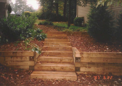 Timber Walls & Steps